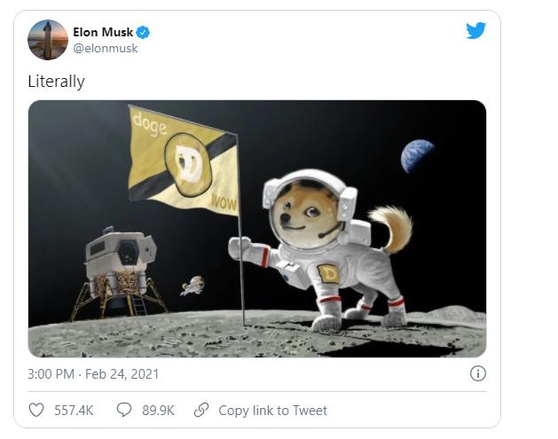 DogeCoin: Илон Маск твит