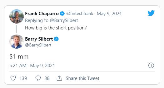 Твит Barry Silbert