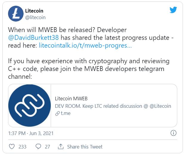 MimbleWimble Litecoin