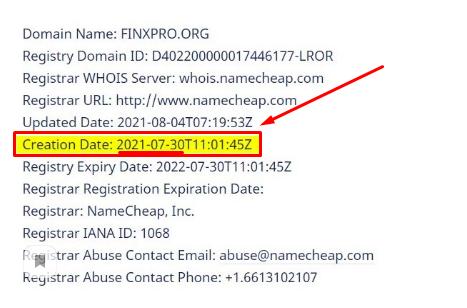 Оформление домена